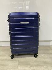 Large Hard Samsonite Suitcase in Blue with TSA Lock and Expandable Capacity
