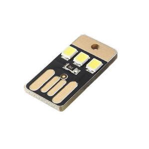 10PCS Pocket Card Lamp Bulb Led Keychain Mini LED Night Light Portable USB Power