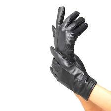 Men's Cool Leather Winter Wrist Glove Driving Black Warm Gloves New