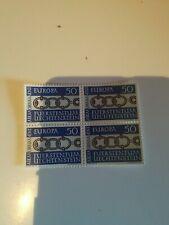 Lot de  1 bloc de 4 europa cept Liechtenstein 1965 xx