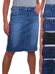 ICE Knee Length Denim Skirt With Great Stretch Jeans Skirt 10-22