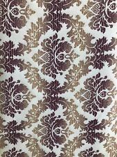 Beige Multicolor Damask Chenille Upholstery Brocade Fabric (54 in.) Sold Bty