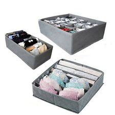 3x 24/7/6-Cells Foldable  Drawer Organizer Storage Box Bamboo Charcoal Underwear
