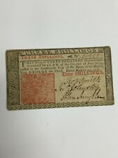 1776 NEW JERSEY COLONIAL 3 SHILLINGS NOTE