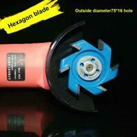 Hexagonal Blade Fillet Anti-reverse Power Wood Carving Angle Grinder Tools