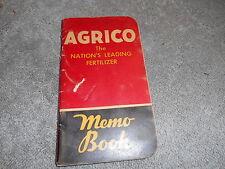 AGRICO / NORMAL SUPERPHOSPHATE - MEMO BOOK - 1949 CALENDAR IN BACK