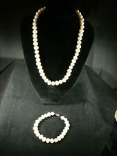 Genuine Natural Fresh Water Pearl Necklace and Matching Bracelet P11