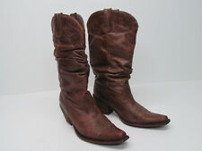 STEVE MADDEN SPURS BROWN LEATHER COWBOY WESTERN BOOTS Size  WOMENS 9 M