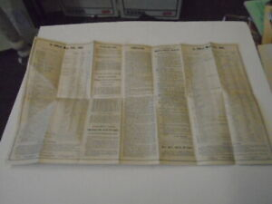 Original May 10th, 1885 Chesapeake & Ohio RR Railroad C&O Map