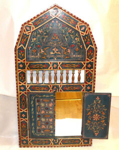 Moroccan Wall Mirror Home Decor Beautiful Authentic Blue Hand Painted Large