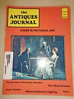 Antiques Journal 1975 Winchester Mystery House Mansion Paste Jewelry Imari Chess