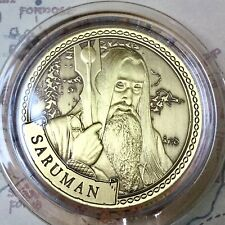 Saruman Lord Of The Rings Limited Edition 38mm Collectors Coin In Capsule