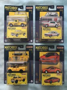 Matchbox Collectors 2021 4 Car set Land Rover - 1963 Chevy Mooneyes 2016 bmw i8