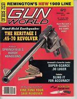 Magazine GUN WORLD February 1989 !KURT RUSSELL: Celebrity Shootout! *HERITAGE I*
