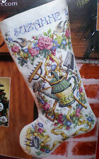 "Sandy Orton ""Gardener's Christmas Stocking"" Counted Cross Stitch Kit  28-Count"