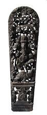 """Ancien Panneau bois sculpté statue hindoue Ganesha 210 cm-82"""" Nepal-Inde"""