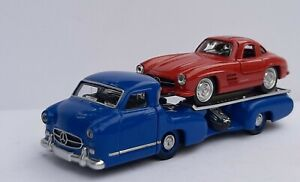 NOREV 3 inches 1/64. Mercedes Renntransporter +300 Sl. New IN Box