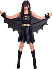 Licensed Adults Batgirl Fancy Dress Classic Costume Ladies Womens UK 8-18