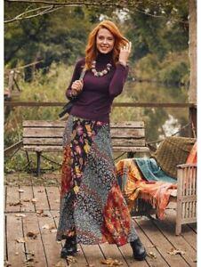 Neylan Boho Patchwork Maxi Skirt