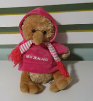 Kiwi Bird Plush Toy Kiwi And Friends Pink Jacket New Zealand 22cm Seated