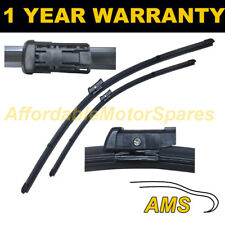 """DIRECT FIT FRONT AERO WIPER BLADES PAIR 24"""" + 18"""" FOR VOLKSWAGEN TOURAN 2010 ON"""