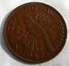 NEW ZEALAND 1 PENNY 1947 COIN