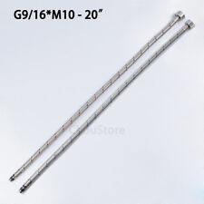 """G9/16"""" * M10 Faucet Braided Hose for Bathroom Kitchen Tap 20"""" Faucets Water Hose"""