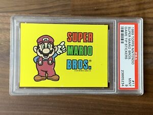 1989 Topps Nintendo Game Tip Sticker #11 Super Mario Bros PSA 9 (Pop 4)