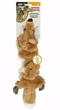 Ethical Pet PLUSH SKINNEEEZ BUNGEE FOX DOG TOY Stuffingless Squeaker- 53cm BROWN