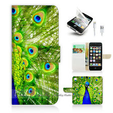 ( For iPhone 5C ) Wallet Case Cover! Beautiful Peacock P0184