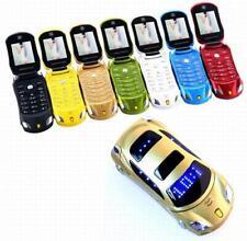 "New Mobile F15 1.77"" Flip Car Shaped Mini Mobile Phone Dual SIM Card & FM Radio"