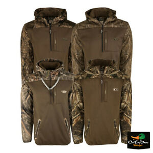 DRAKE WATERFOWL MST ENDURANCE SOFT SHELL CAMO HOODIE PULLOVER