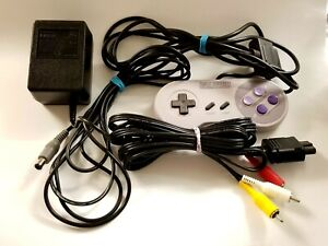 Cords and Controller Bundle For Super Nintendo - SNES. OEM Authentic. NICE Set!