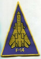 "6""  F-14 TOMCAT US Navy Grumman VF Fighter Squadron Triangle Patch"