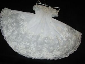 Victoria's Secret Collection Ivory Chiffon Lace Sequin Nightgown Lingerie Bridal