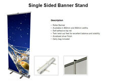 NEXT DAY ROLLER BANNER EXHIBITION STAND 850MM NEW WITH HIGH QUALITY GRAPHIC