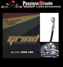set tubes flexible de frein freins tresse moto yamaha r1 09 - 11 gaine noir inox