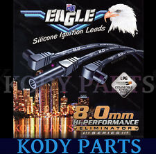 Eagle Ignition Leads 8.0mm - for Commodore VN VP VR VQ V6 & Lexcen E86117BK
