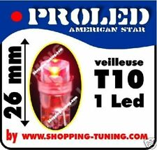 2x VEILLEUSE 1 LED Pro,W5W,T10,Rouge phare effet xenon 12V MOTO AUTO QUAD