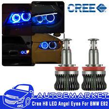 40W Total H8 Blue CREE LED BMW Angel Eyes Halo Ring Light For E90 E92 E93 X5 Z4