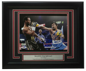 Manny Pacquiao Signed Framed 8x10 Photo vs Sugar Shane Mosely PSA/DNA Q18591