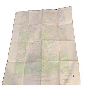"""Vintage 1968 Dept. Of Interior Map - Bridger Lakes Wyoming - 22"""" x 27"""""""