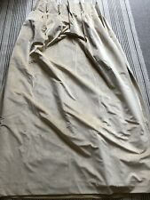 Laura Ashley Chester Gold Woven Velvet Curtains, New, Double Pleats With Hooks