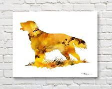 Flat Coated Retriever Abstract Contemporary Watercolor Art 11 x 14 Print by Djr