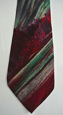 vtg Claude MONTANA abstract stripe Silk Tie