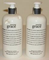2 Philosophy Amazing Grace Firming Body Lotion 16 Oz Each 32 Total Pump Top NWOB