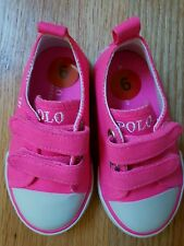 Ralph Lauren Toddler Shoes bright Pink Size 6 Great Condition 👍