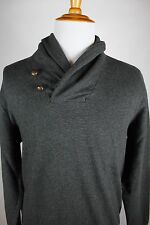 Polo Ralph Lauren Gray Shawl Neck Sweater Mens Size Large Cotton
