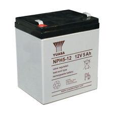 YUASA NPH5-12, 12V 5AH (comme 4Ah & 4.5Ah) Batterie Avec 6.3mm Large cosse