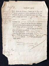 Robert de Fresnoy commis du Roi Henri III quittance Royale 24 juillet 1584